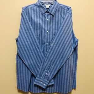 Claiborne Slim-Fit Stretch XL Stripped Dress Shirt